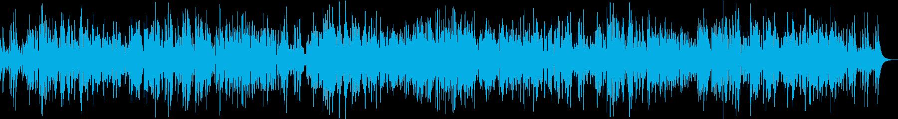 ガットギターによる落ち着いたボサノヴァの再生済みの波形