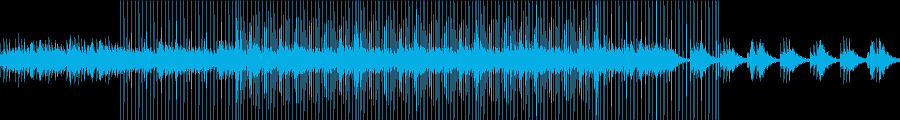 【簡単にLOOPできる】深刻な感じの曲の再生済みの波形