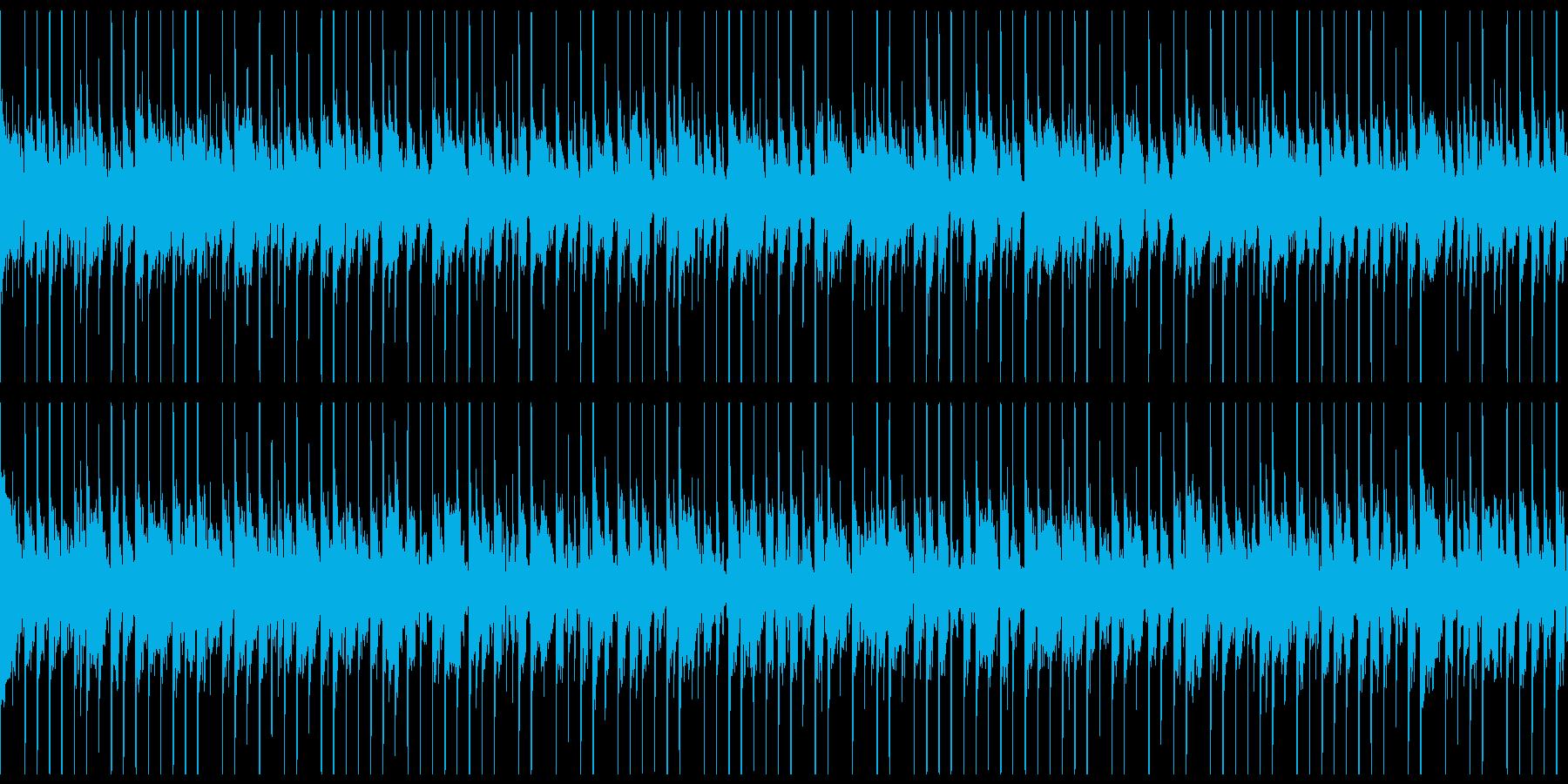 敵の基地や陣地に潜入する時のBGMの再生済みの波形