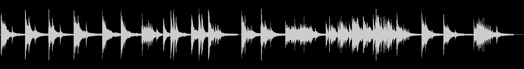 繊細な葛藤を思わせるアンビエントピアノソの未再生の波形