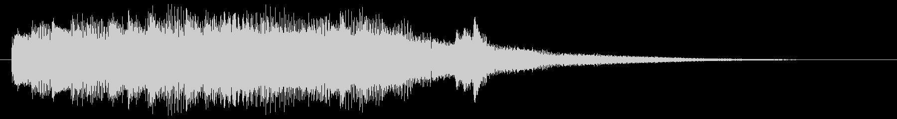 疾走感あるグランドピアノのジングルの未再生の波形