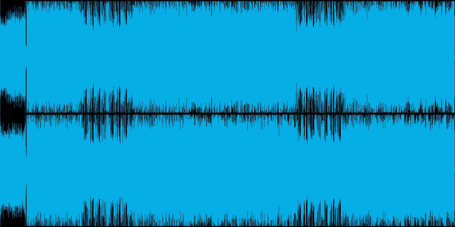 攻撃的で激しく重厚なヘヴィメタルループの再生済みの波形