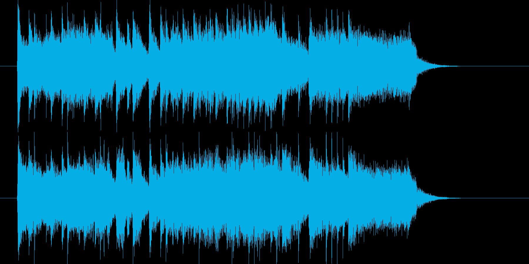 力強く勢いのあるショートミュージックの再生済みの波形