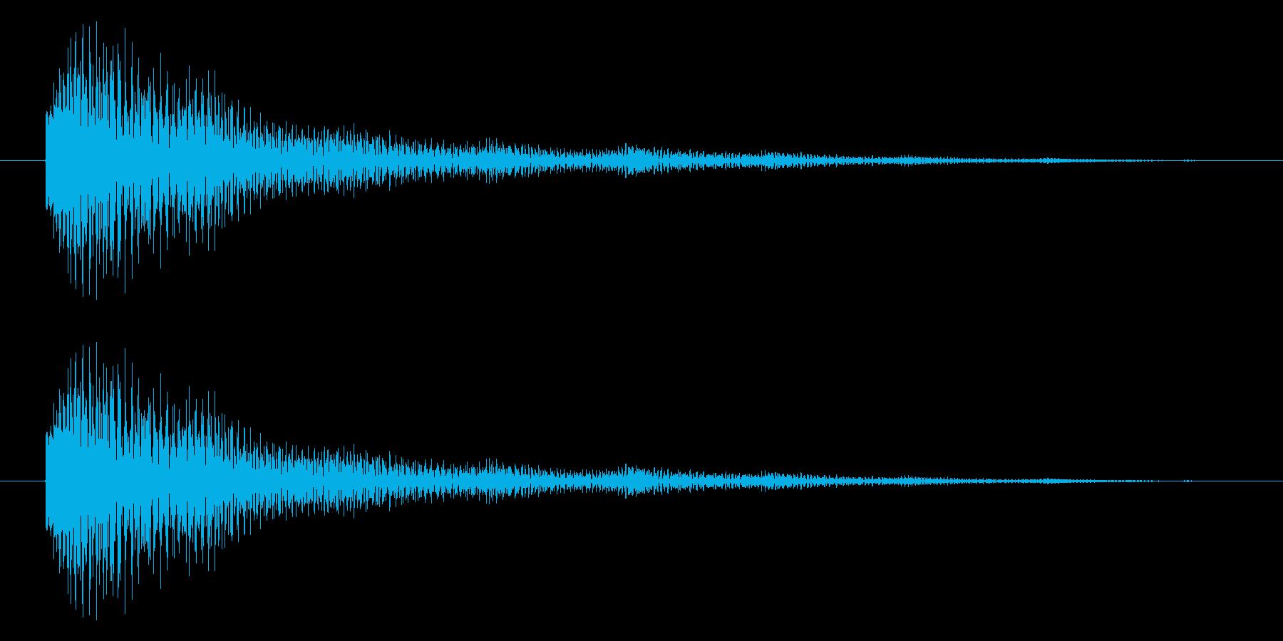 トゥン・・・(残響)の再生済みの波形