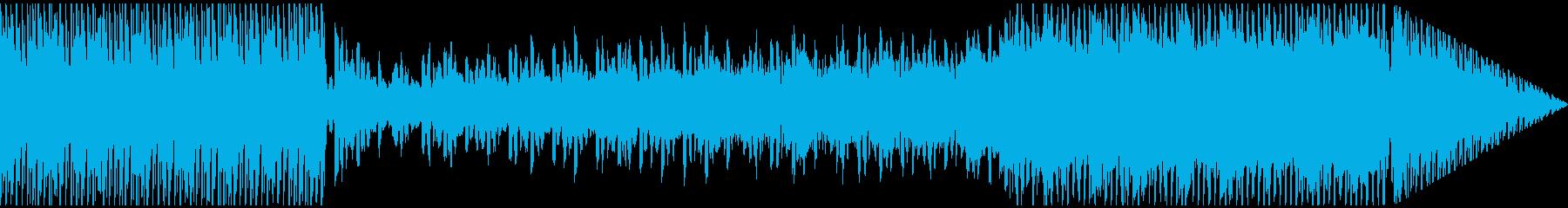 幻想的なメロディックテクノの再生済みの波形