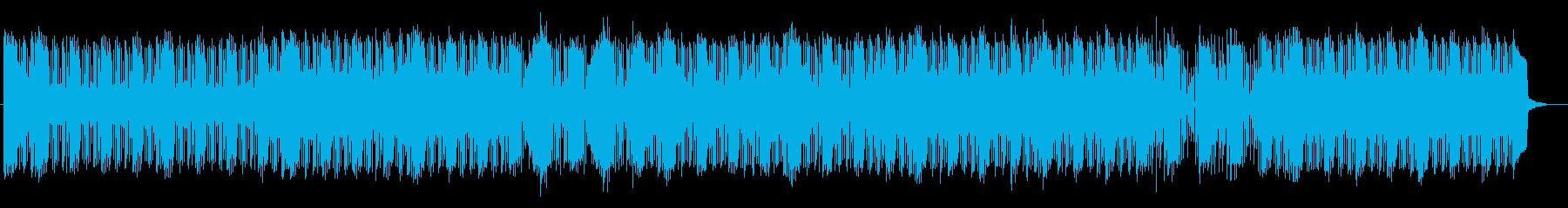 金属音とベースがメインの不思議系楽曲の再生済みの波形