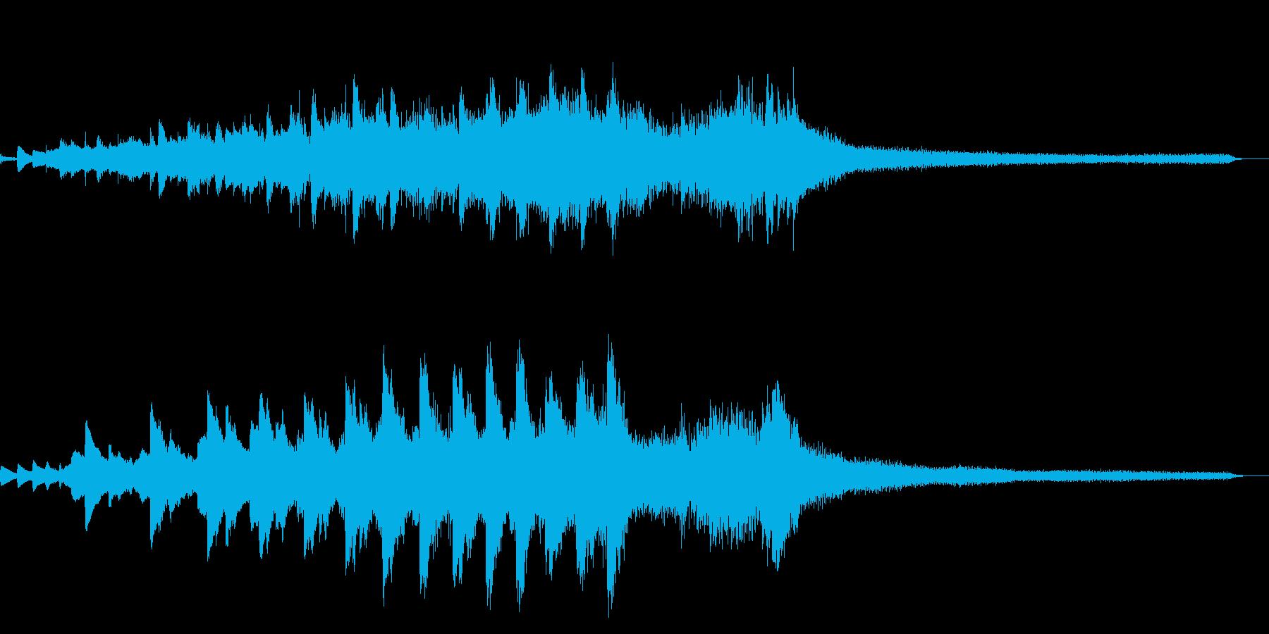舞う和風ジングル24-ピアノソロの再生済みの波形