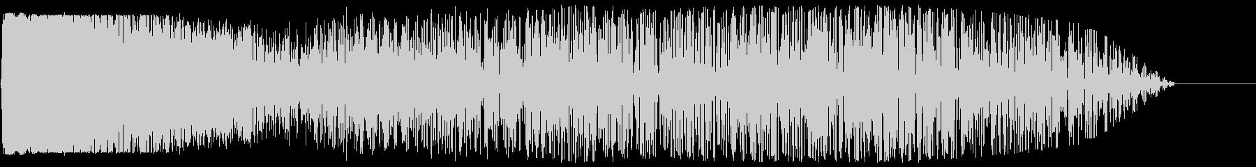 ロケット発射音(臨場感あふれる効果音)の未再生の波形