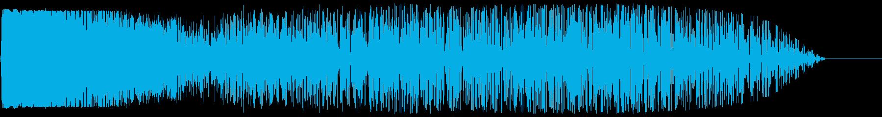 ロケット発射音(臨場感あふれる効果音)の再生済みの波形