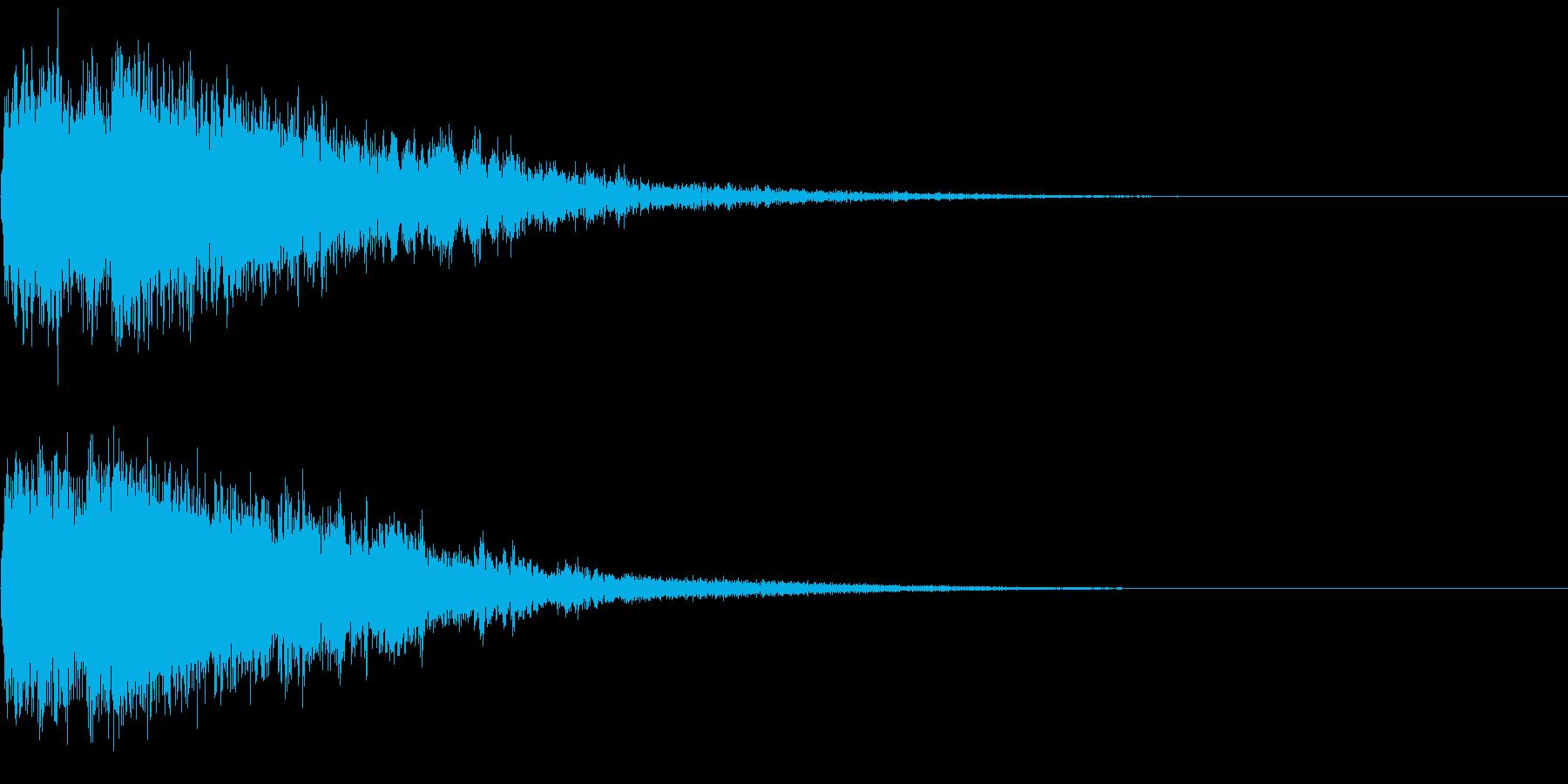 【ホラー】キュンッ! バチーンッ・・・の再生済みの波形