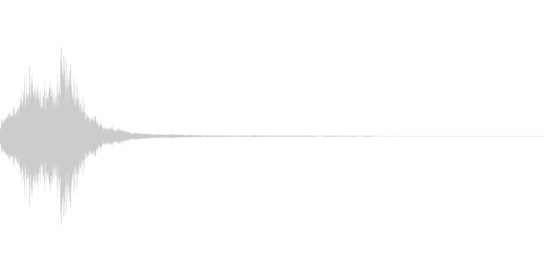 ハープのキラキラ系グリッサンドの未再生の波形