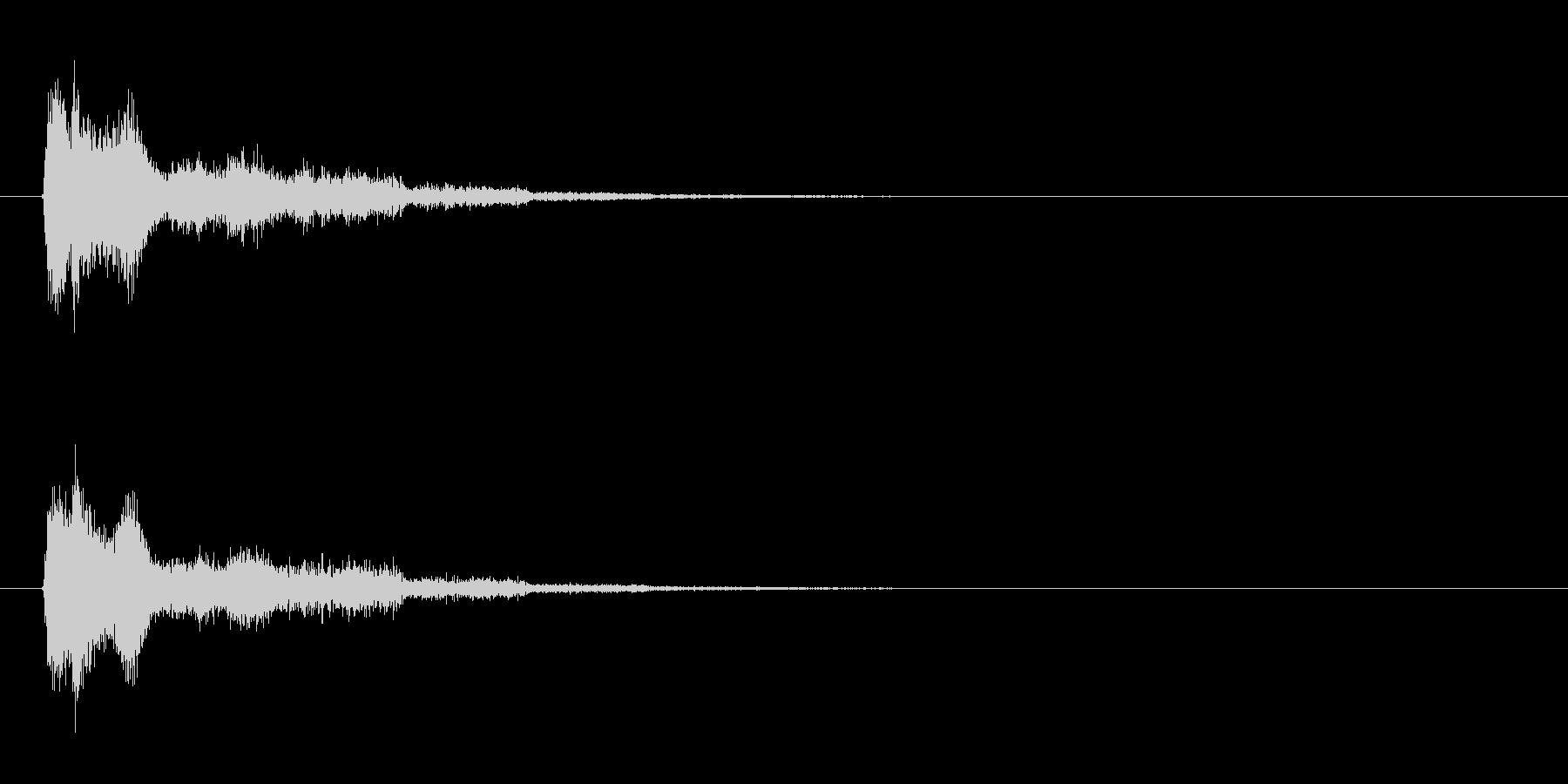 エネルギー砲、ビーム系【ズッシューン】の未再生の波形