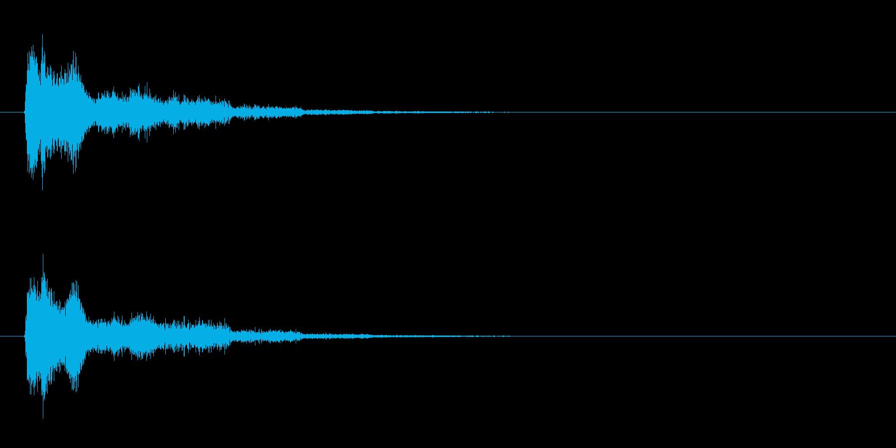 エネルギー砲、ビーム系【ズッシューン】の再生済みの波形