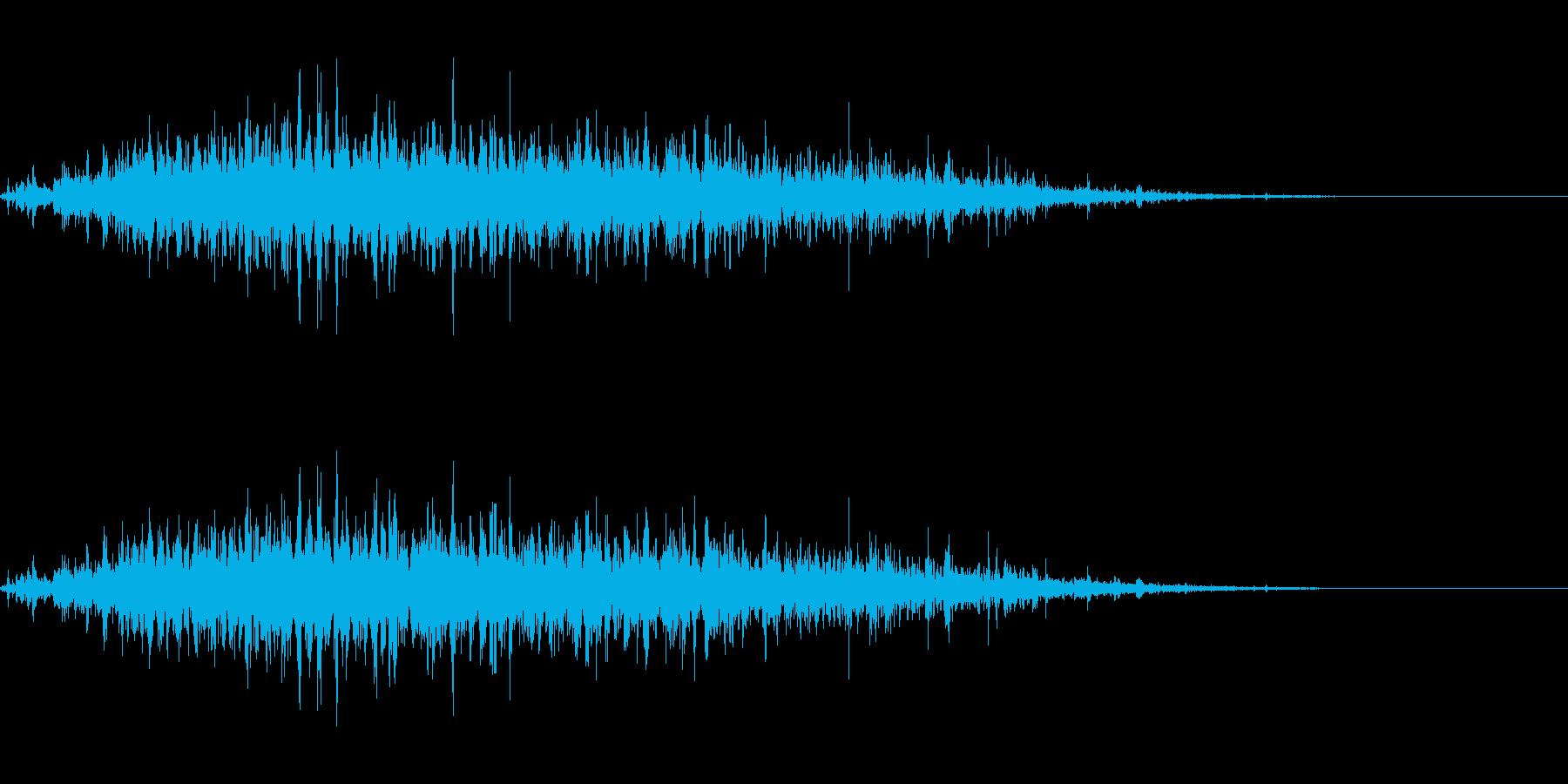 リバーブつき神楽鈴(小)のクレッシェンドの再生済みの波形