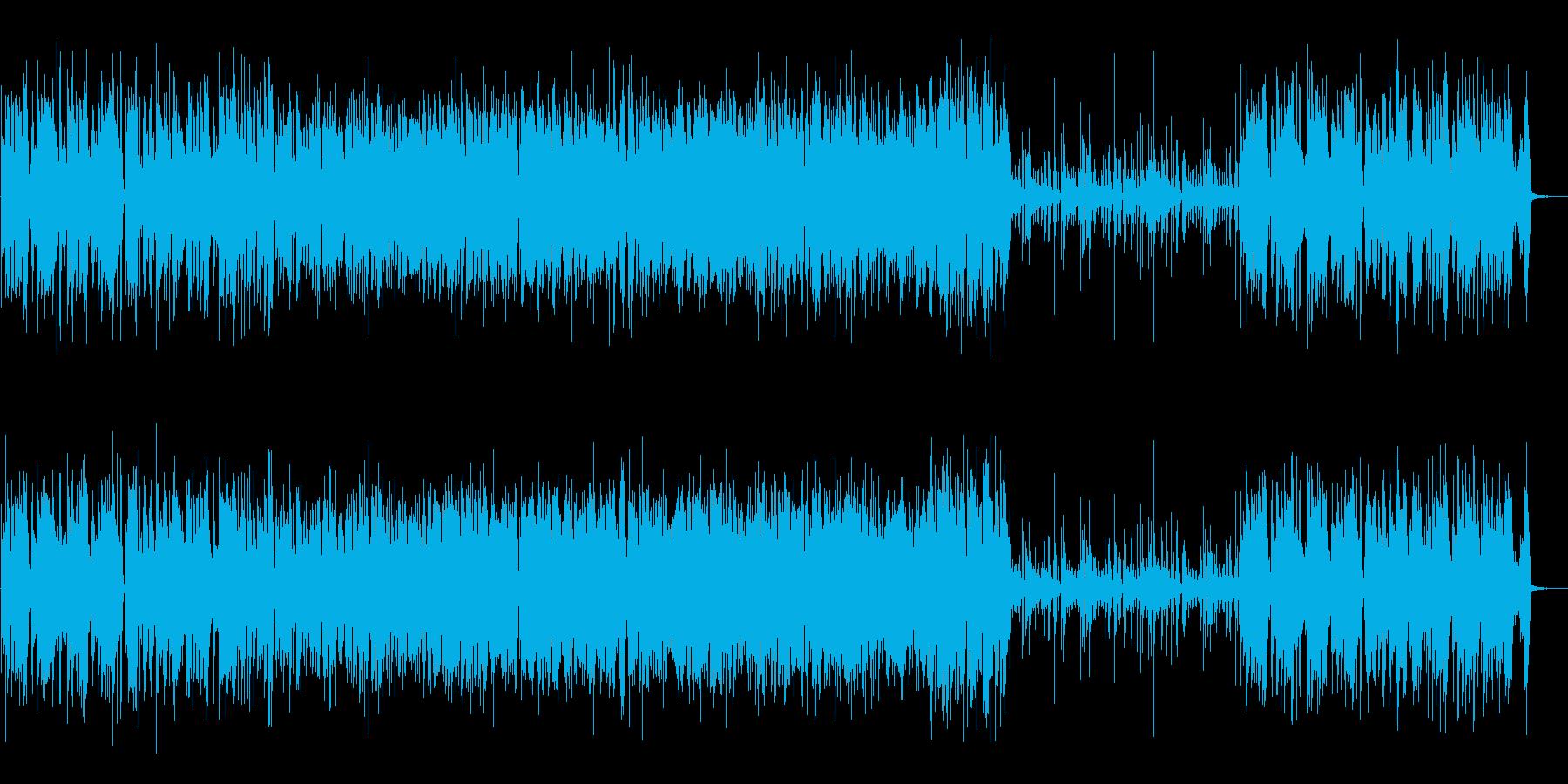 アップテンポのジャズ(ピアノトリオ)の再生済みの波形