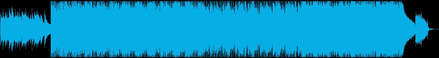 ゆったりした切ないテクノポップの再生済みの波形