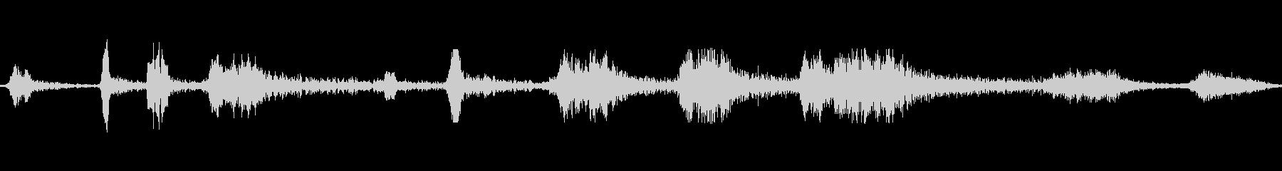 うなるクジラのうめき声の未再生の波形