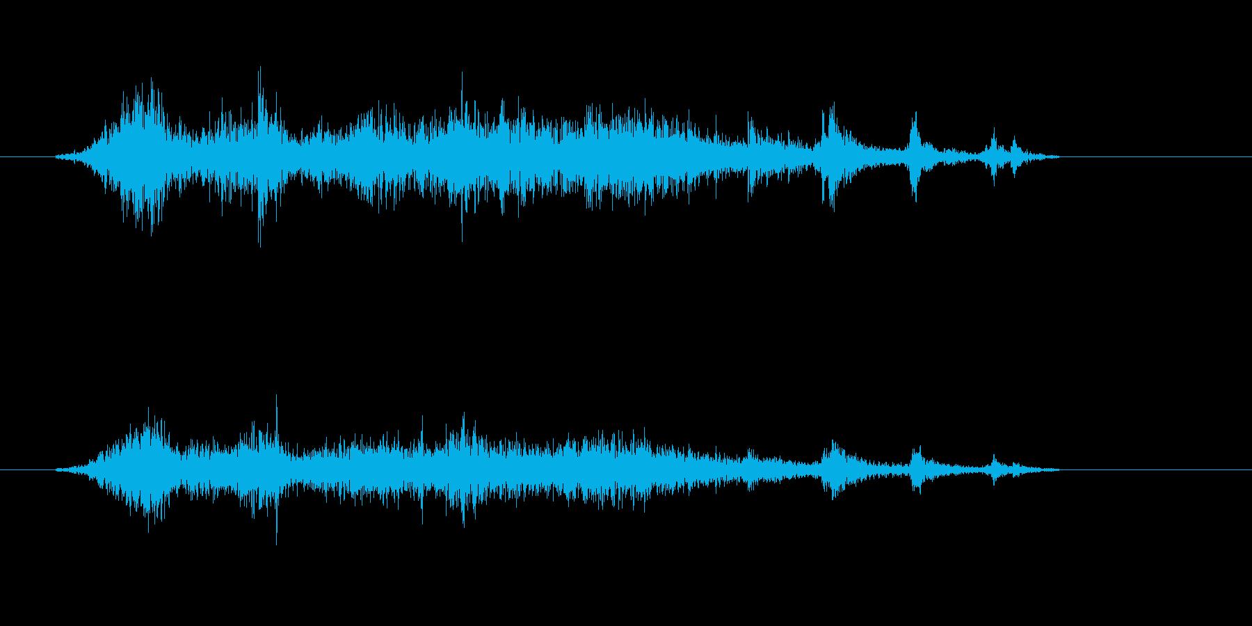 カーテンを閉める音の再生済みの波形
