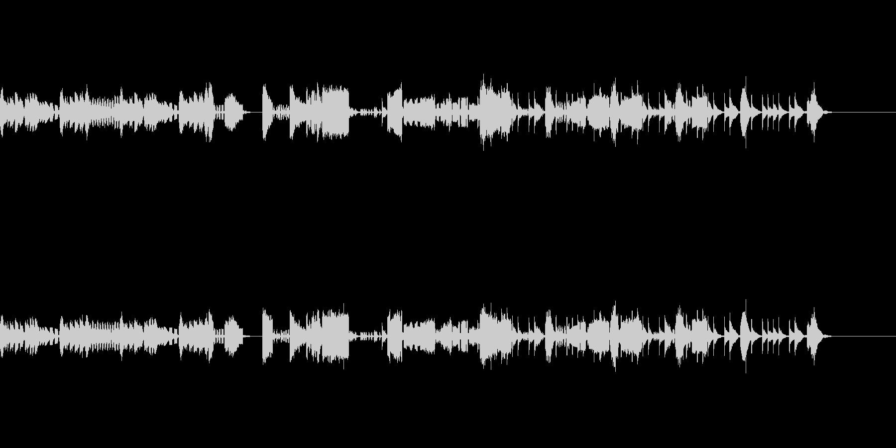 オーボエ・ファゴットが中心のアンサンブルの未再生の波形