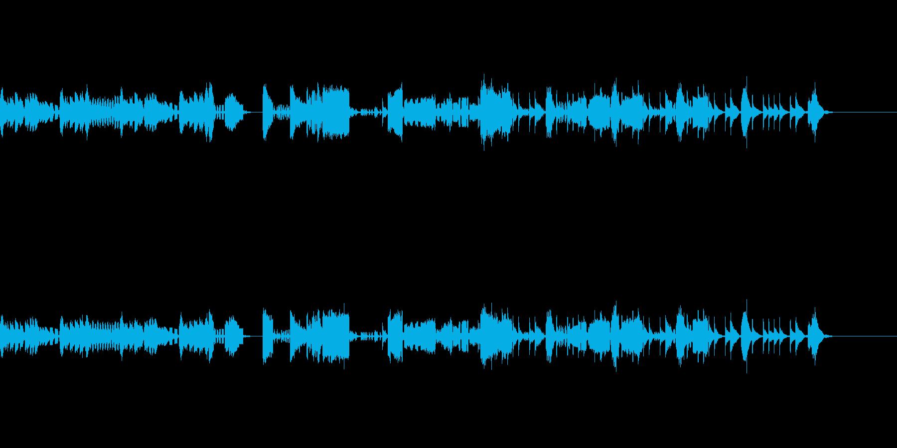 オーボエ・ファゴットが中心のアンサンブルの再生済みの波形