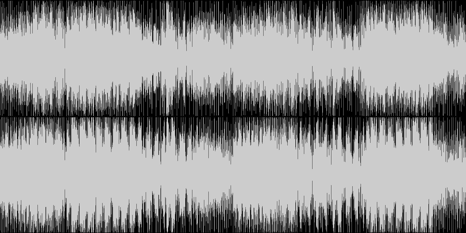 ミステリアスな雰囲気のゲームBGMループの未再生の波形
