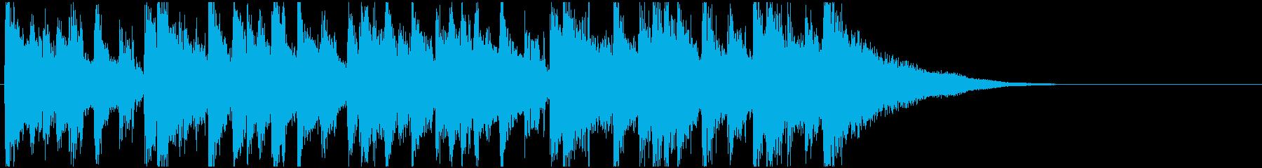 生演奏 ボサノバギター おしゃれ 落着きの再生済みの波形