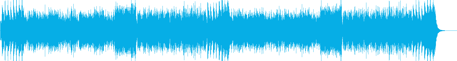 ファンタジックなオーケストラの戦闘曲の再生済みの波形