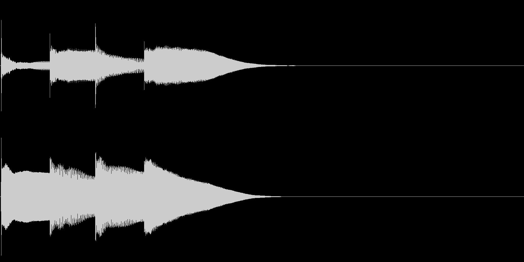 グロッケン系 決定音13(大)の未再生の波形