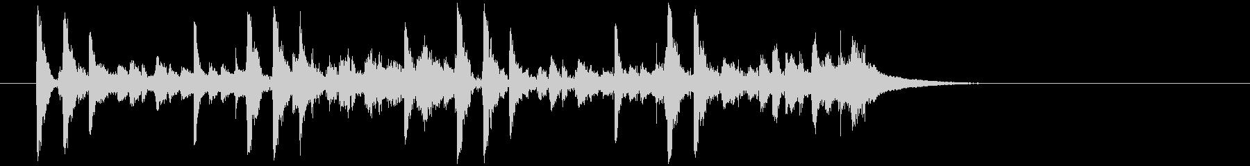 効果音を含んだコミカルなジングルの未再生の波形
