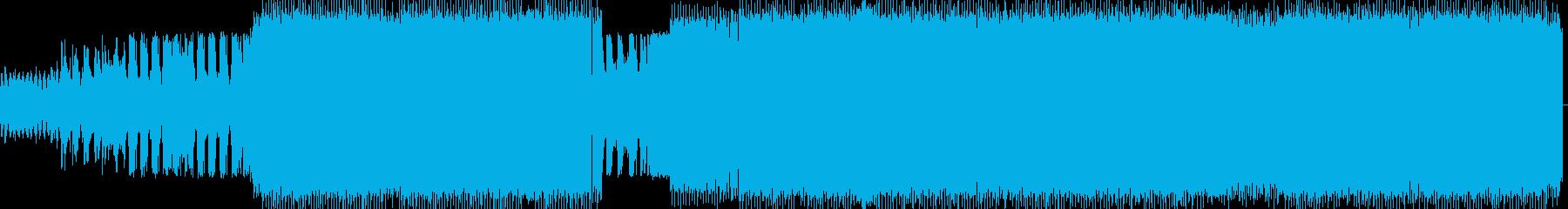 ポップな四つ打ちのテクノインストの再生済みの波形