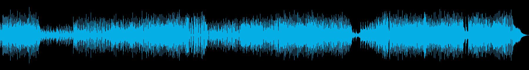 アコースティックバンド明るいポップBGMの再生済みの波形