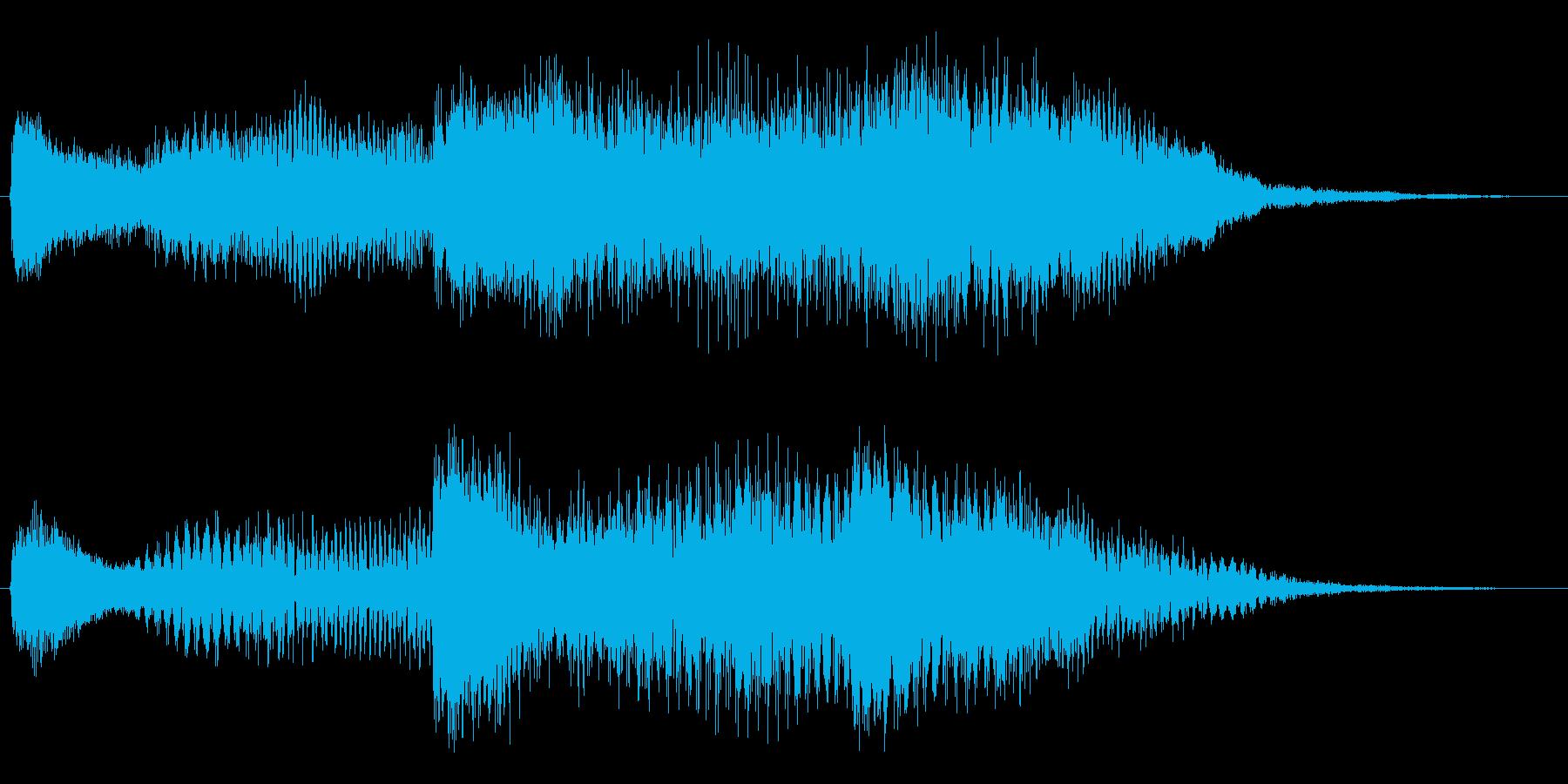 サイエンス的イメージロゴの再生済みの波形