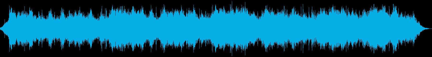 水の音が何とも神秘的なヒーリング音楽の再生済みの波形