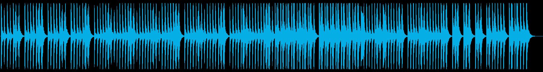 陽気で軽快なピアノ曲の再生済みの波形