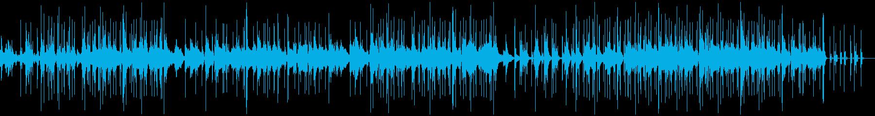 ピアノと電子音がメインのゆったりした曲の再生済みの波形