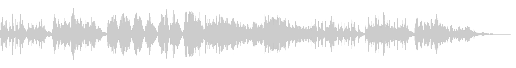 切ないモダンなメロディ和風曲17-ピアノの未再生の波形