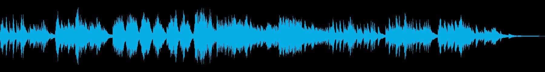 切ないモダンなメロディ和風曲17-ピアノの再生済みの波形