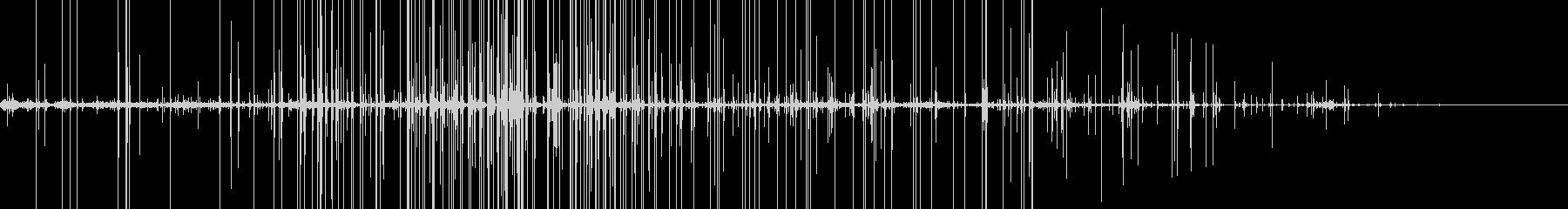 ミシミシパチパチ…藁の上を歩く足音&火の未再生の波形