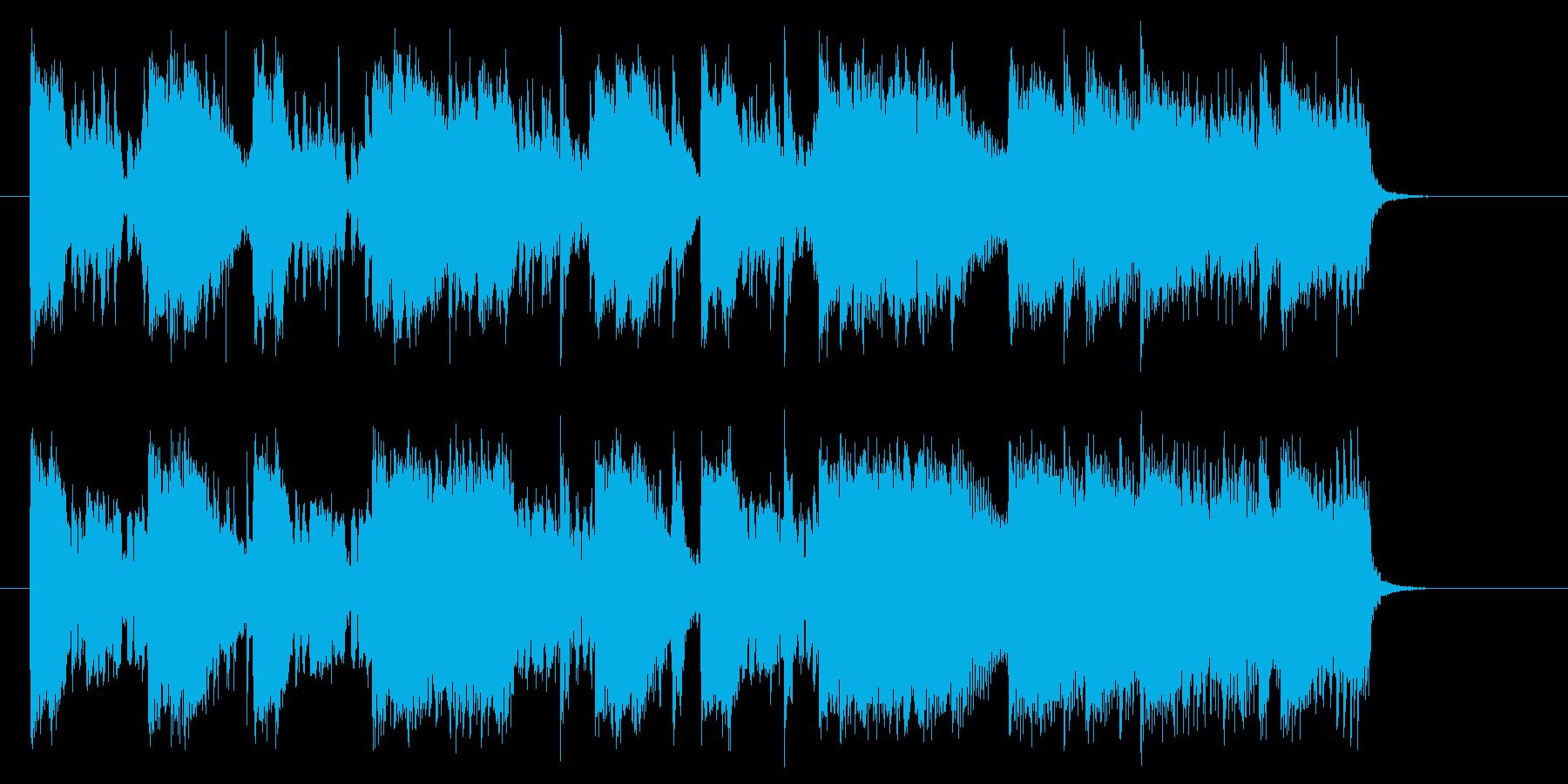 リズミカルで軽快なシンセジングルの再生済みの波形