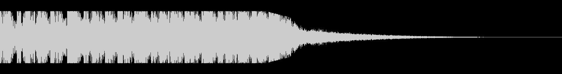 トランスなジングルの未再生の波形