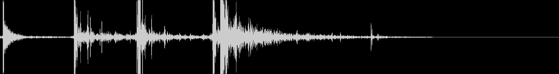 ビリヤードのブレイクショットの未再生の波形