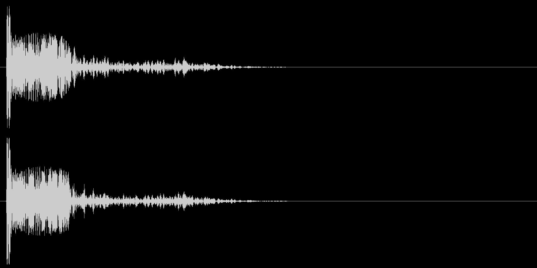 爆発・大砲9:近距離、弱い爆発の未再生の波形