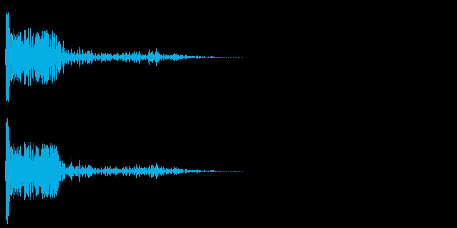 爆発・大砲9:近距離、弱い爆発の再生済みの波形