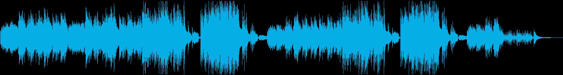 感動映像のためのピアノとオーボエの再生済みの波形
