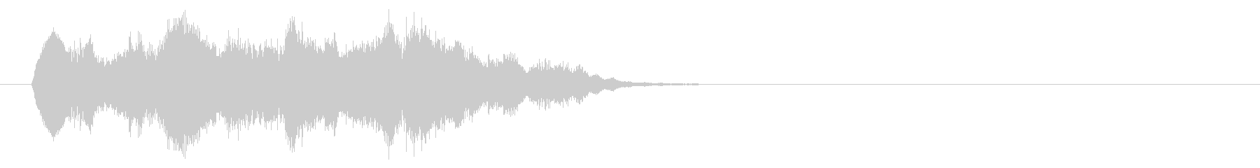 リズミカルかつ爽やかなサウンドロゴの未再生の波形