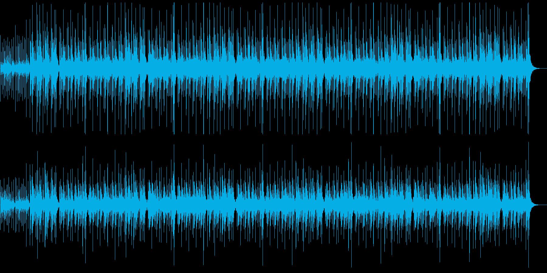弾ける音の連鎖の再生済みの波形