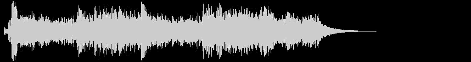 ピアノソロのオープニングジングルの未再生の波形