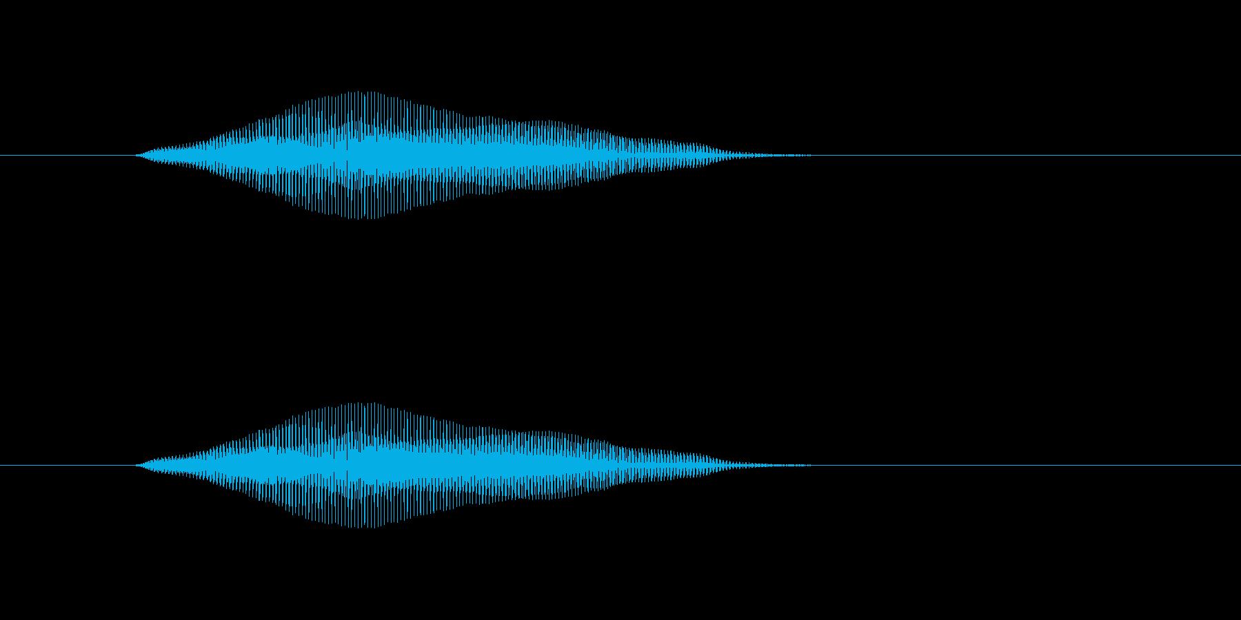 ニャン!の再生済みの波形