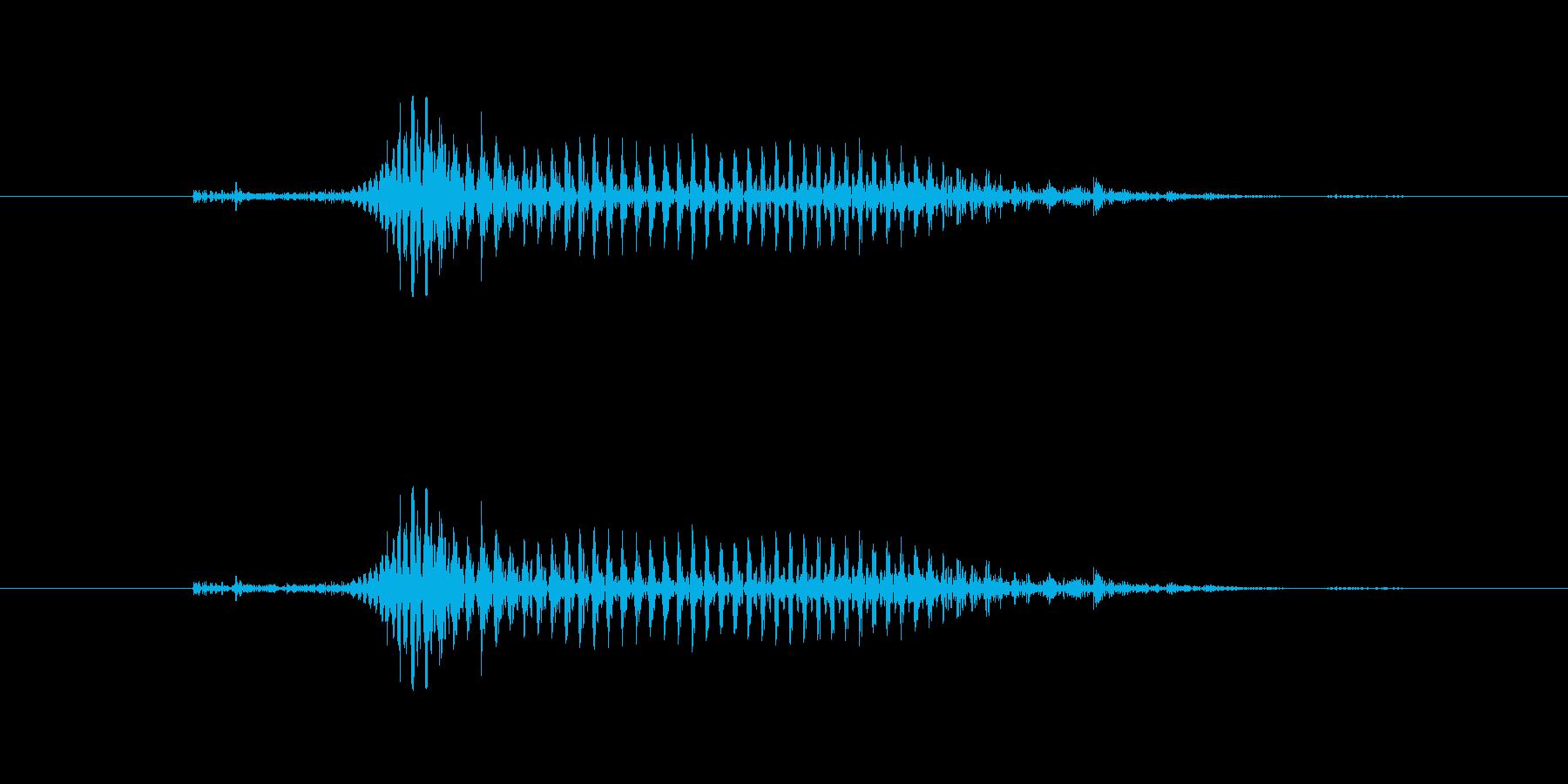 【子供の戦闘ボイス】きゃっ(軽ダメージ)の再生済みの波形