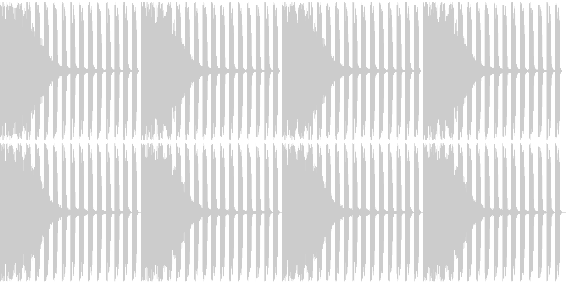 【EDM】ロング9、ミディアム1の未再生の波形